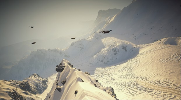 Steep Alaska update gliding through a canyon screenshot