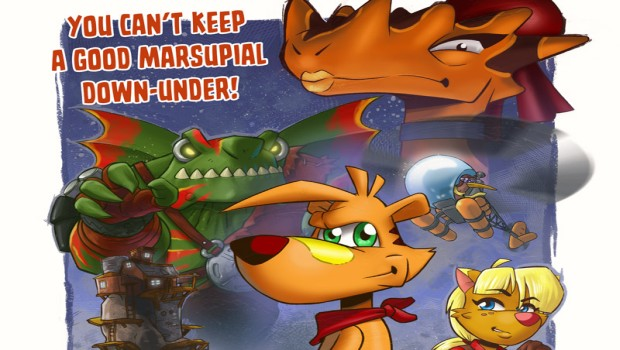 TY the Tasmanian Tiger 2: Bush Rescue official poster artwork