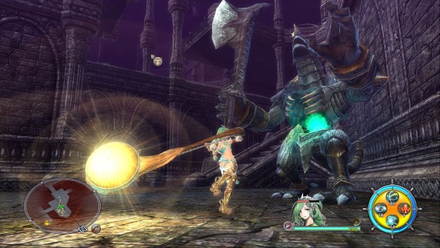 Ys VIII: Lacrimosa of DANA screenshot of combat gameplay
