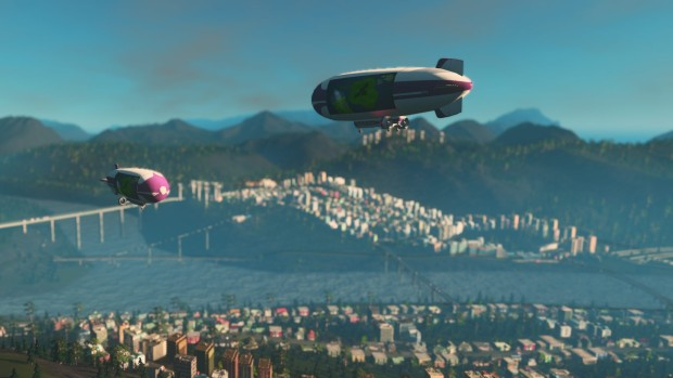 Cities: Skylines's Mass Transit expansion blimps