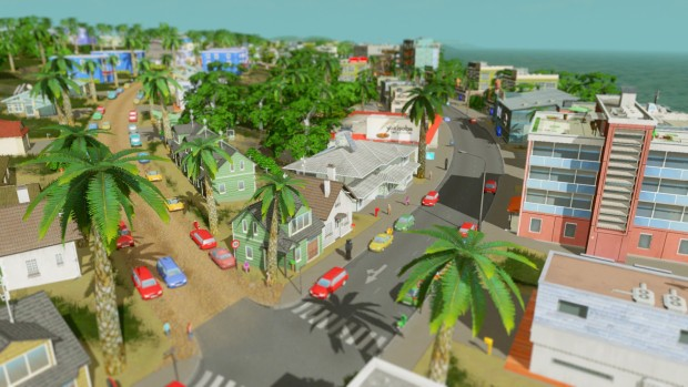 Cities: Skylines screenshot of a very tropical city