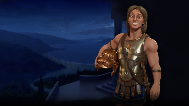 Alexander the Great from Civilization 6's Macedon nation