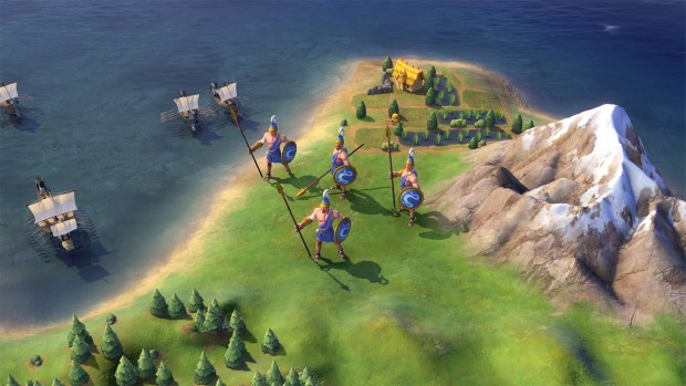 Civilization 6 Macedon Swordsman replacement unit the Hypaspist