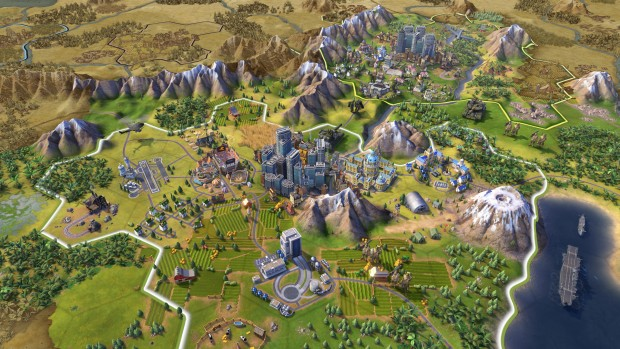Civilization VI screenshot of a very advanced city