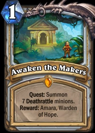 Awake the Makers card from Hearthstone's Journey to Un'Goro