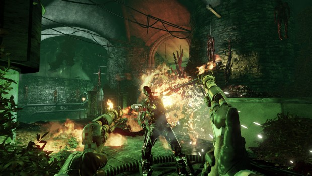 Killing Floor 2's Descent update screenshot of flame revolvers