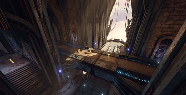 Bridge area of Quake Champions' Blood Covenant arena
