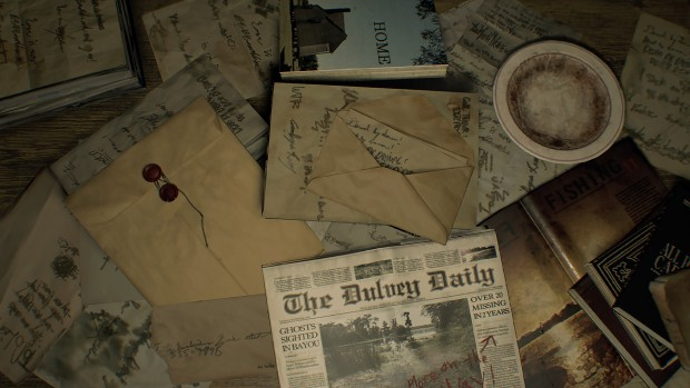 Resident Evil 7 newspapers from the game