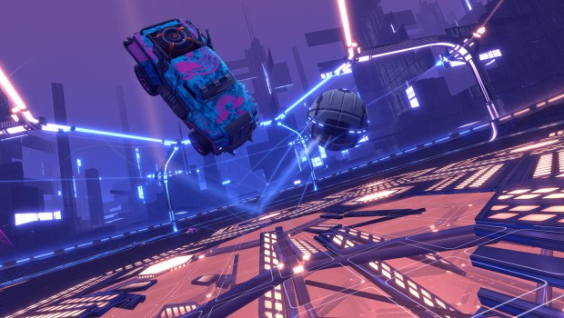 Rocket League Dropshot game mode official screenshot