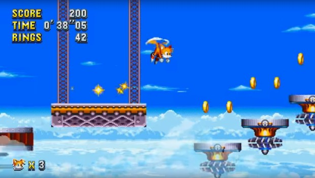 Sonic Mania screenshot of Tails in action
