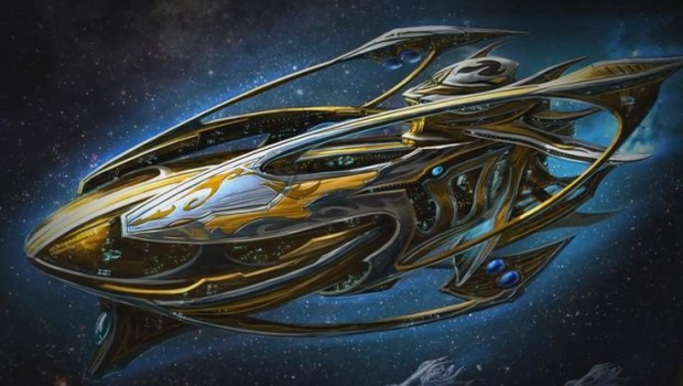 Starcraft 1's Protoss Carrier artwork