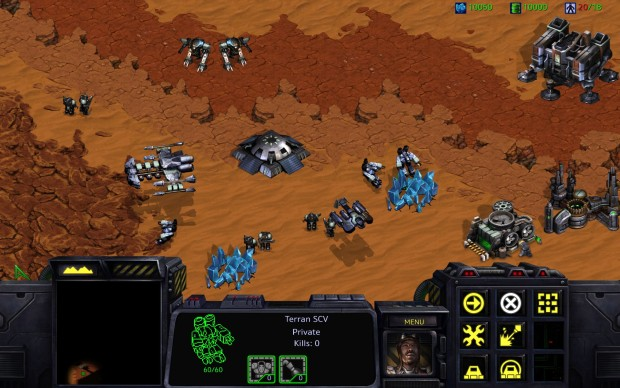 StarCraft: Remastered Terran base in HD