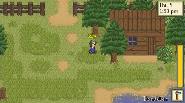 Stardew Valley screenshot of the old version of Leah's Cottage