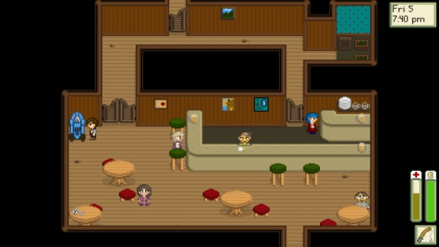 Stardew Valley old screenshot of the bar