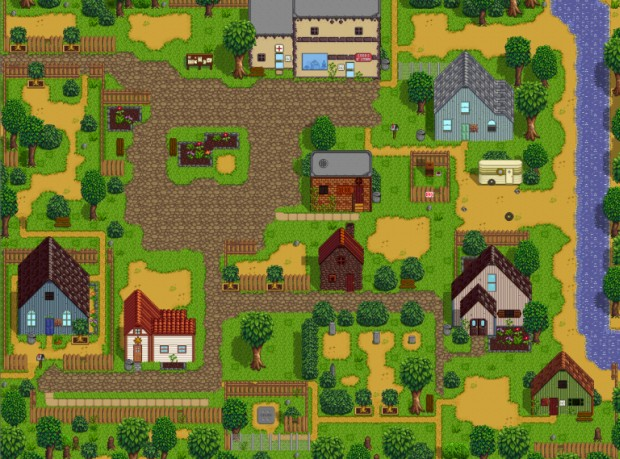The old town map from Stardew Valley