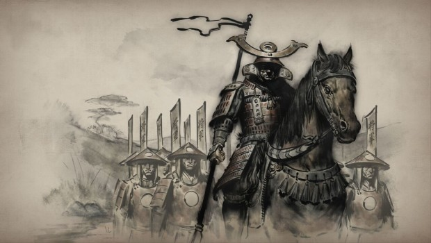Tale of Ronin artwork for the shogun and his samurai army
