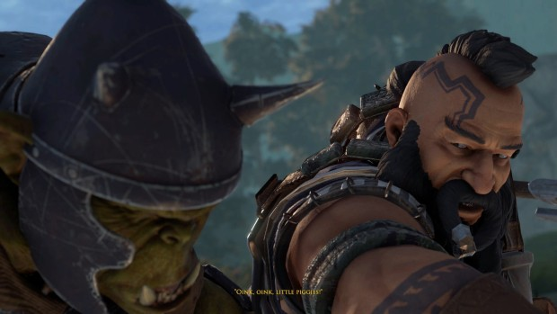 The Dwarves screenshot of a fight against an Orc