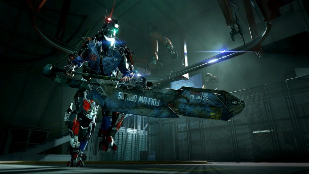 The Surge screnshot showing off a giant two-handed sword
