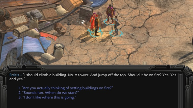 Torment: Tides of Numenera screenshot of Erritis