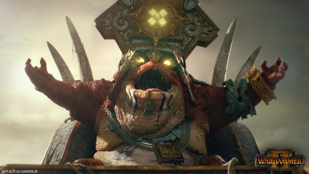 Total War: Warhammer 2 screenshot of Mazdamundi from the Lizardmen trailer