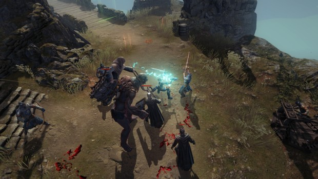 Vikings: Wolves of Midgard screenshot featuring a giant lightning sword