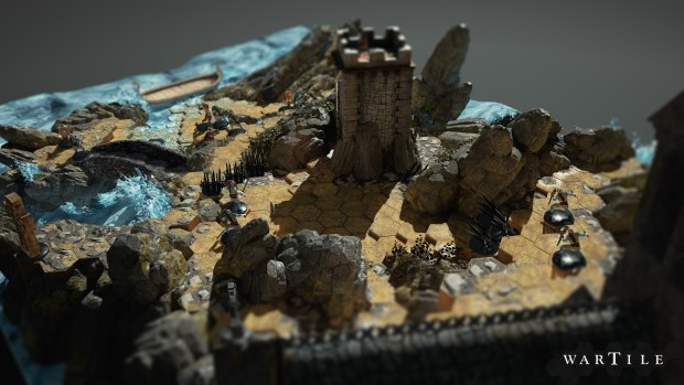 Wartile screenshot of the coastline zoomed in