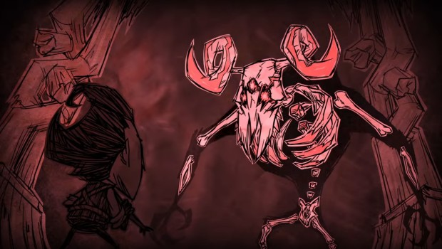 Don't Starve Together artwork for the skeletal beast from A New Reign update