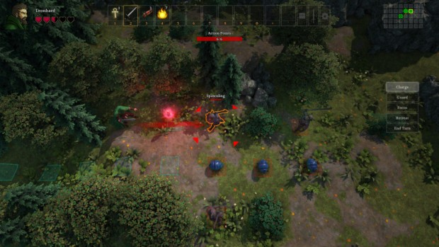 Druidstone screenshot of the turn-based combat