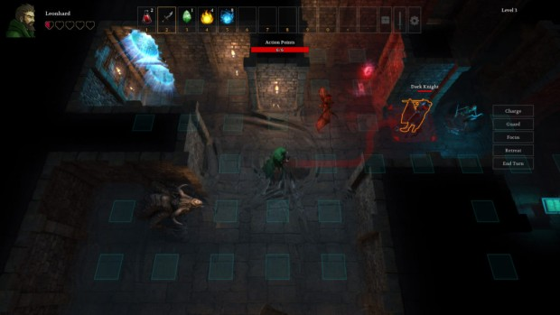 Druidstone screenshot of the combat in a dungeon