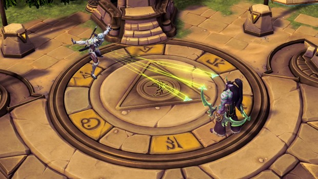 Heroes of the Storm Genji throwing shurikens