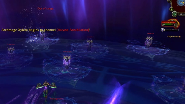 Mage Tower Challenge Closing the Eye Shadow phase transition