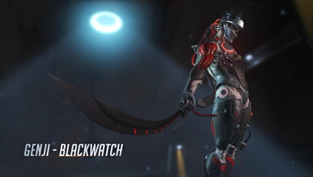 Blackwatch Genji from the Overwatch Uprising update