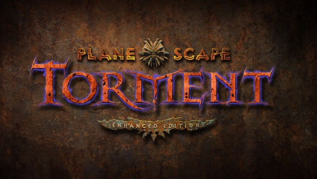 Planescape: Torment: Enhanced Edition official promo art and logo