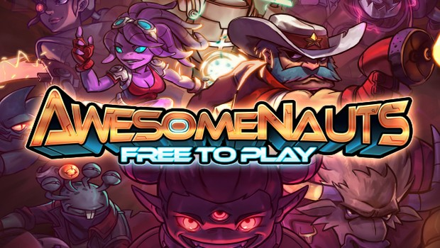 Awesomenauts official artwork and logo for the f2p version