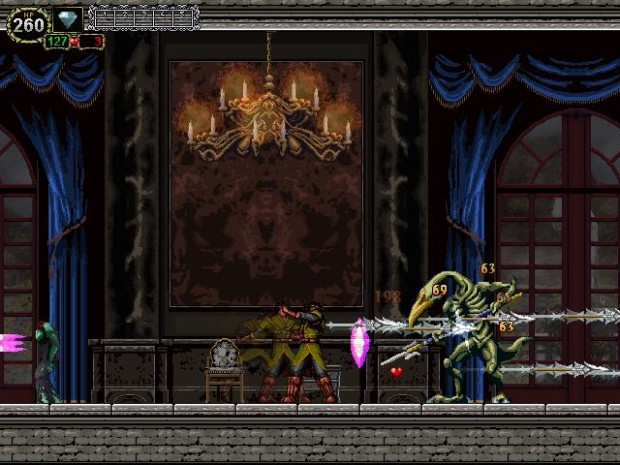 Castlevania: The Lecarde Chronicles 2 screenshot of a boss fight