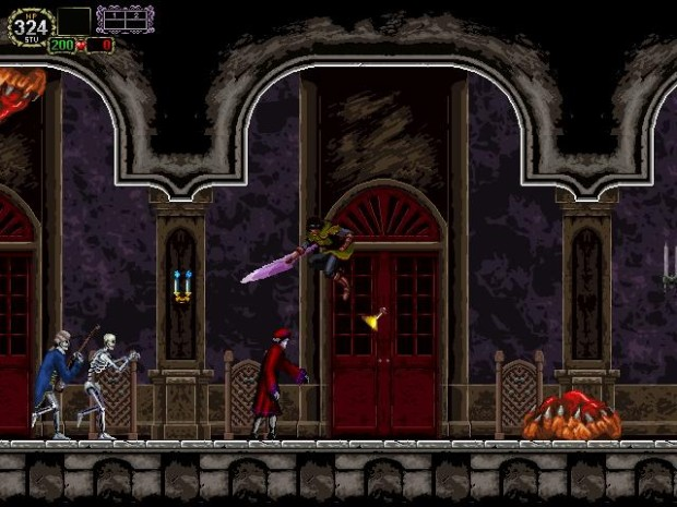 Castlevania: The Lecarde Chronicles 2 screenshot of a haunted castle