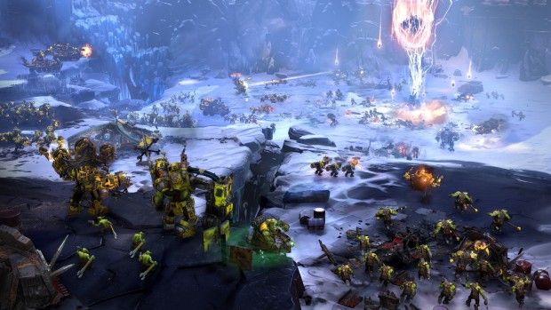 Dawn of War 3 screenshot of a giant battle