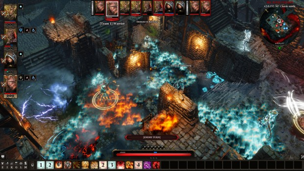 Divinity: Original Sin 2 screenshot of a whole mess of spell effects
