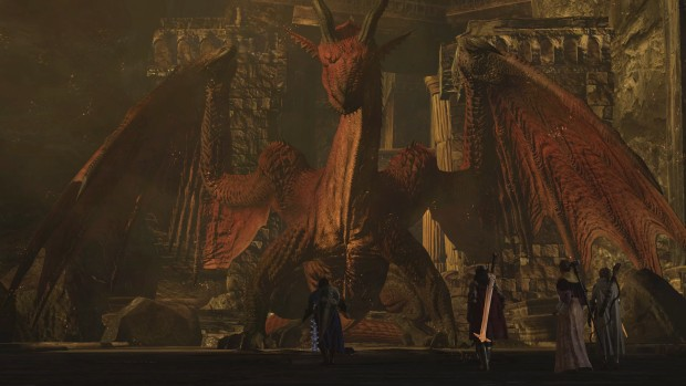 Dragon's Dogma screenshot of the great Dragon