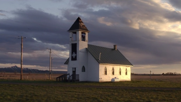 The church from the Far Cry 5 teaser trailer