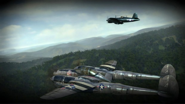 Iron Wings screenshot of a flight across a forest