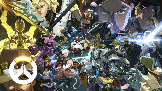 Overwatch artwork showing all of the heroes