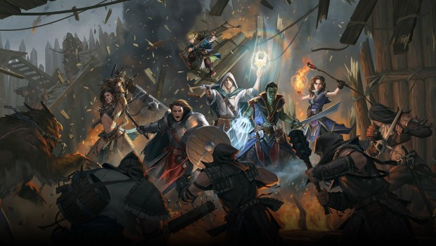 Pathfinder: Kingmaker official artwork showing the characters