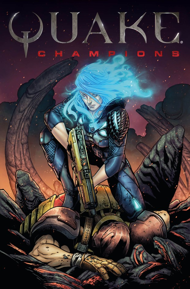 Quake Champions official comic book cover art