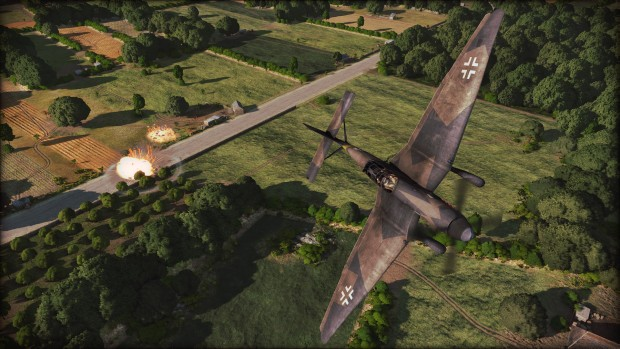 Steel Division: Normandy screenshot of airplanes bombing