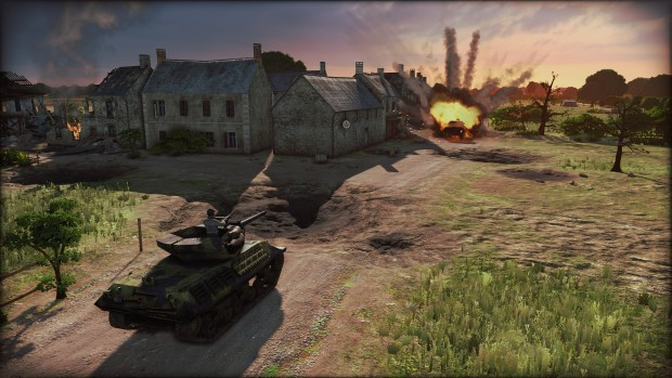 Steel Division: Normandy 44 screenshot of a tank