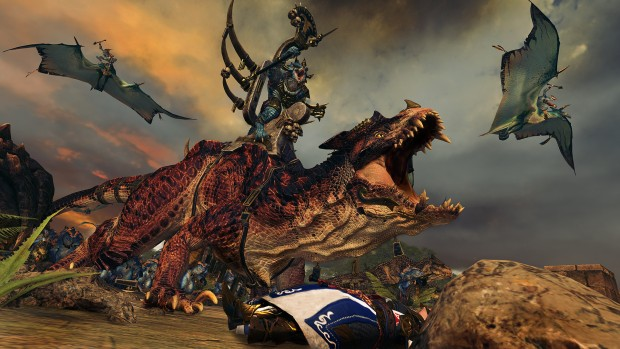 Total War: Warhammer 2 screenshot of the Lizardmen in battle