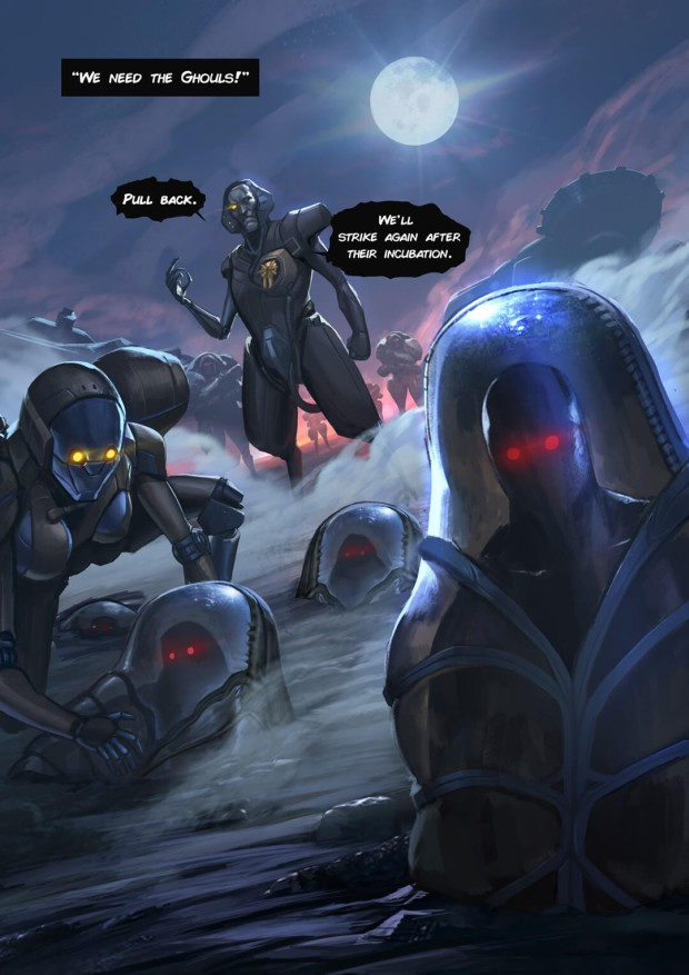 Second page teaser of the Warframe comic