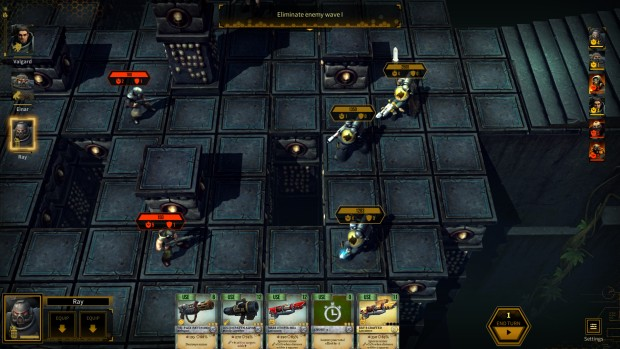 Warhammer 40k: Space Wolf survival mode layout with pits in the middle