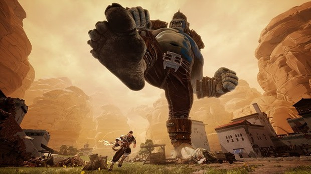 Extinction game screenshot of a giant ogre